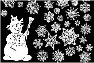 Снежинки из бумаги к новому году 2015