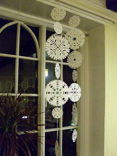 Поделки снежинки своими руками схемы