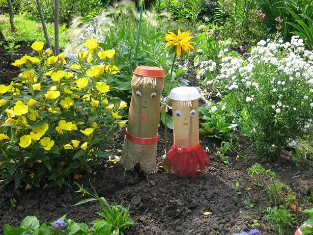 Поделки для огорода своими руками из подручных