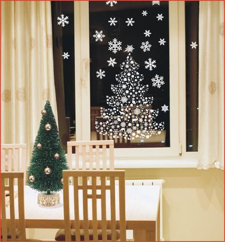 Новогодние трафареты на окна из бумаги своими